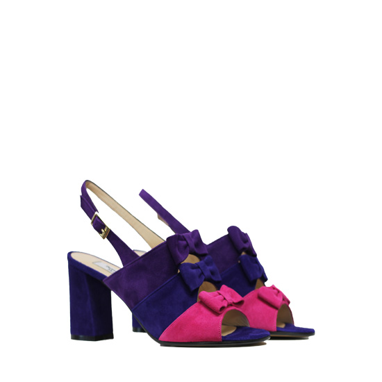 Donna Laura - Camoscio candy royal sandals