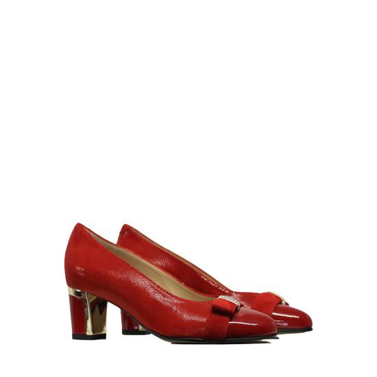 Donna Laura - Red dust ballerinas