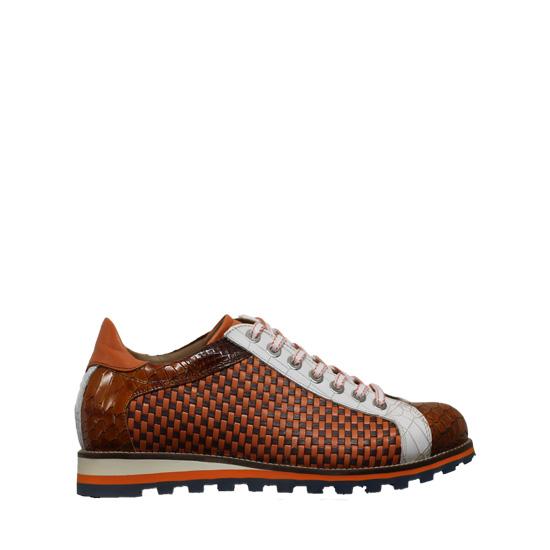 Lorenzi - Fresh red cuoio sneaker