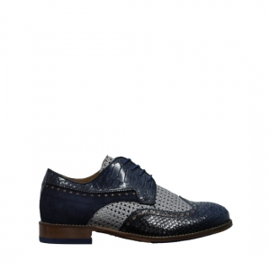 Lorenzi - Fresh blue elegant shoes