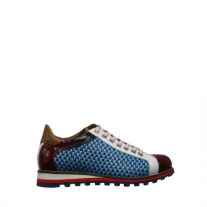 Lorenzi - Fresh blue and red sneakers