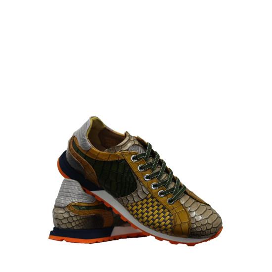 Lorenzi - Fresh yellow sneakers