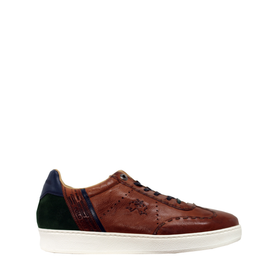 La Martina - Leather and green sneakers