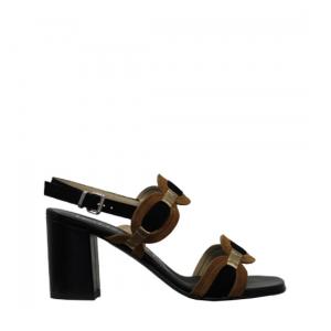 Le Gazzelle - Black feather sandals