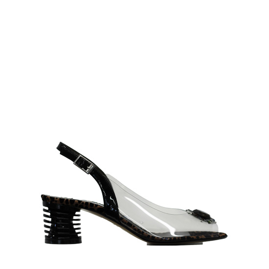 Donna Laura - Black vinile sandals