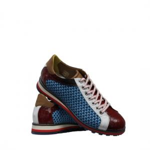 Lorenzi - Fresh blue and red sneakers