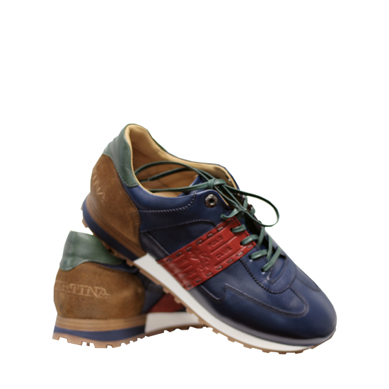 La Martina - Canyon blue and red sneakers