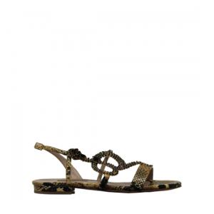 Albano - Yellow python sandals