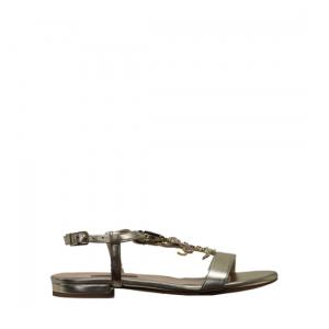 Albano - Metallic platinum sandals
