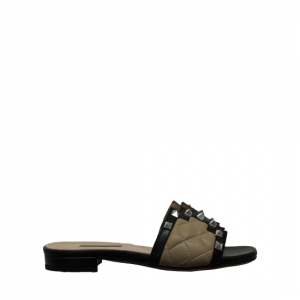 Albano - Black and brown slippers